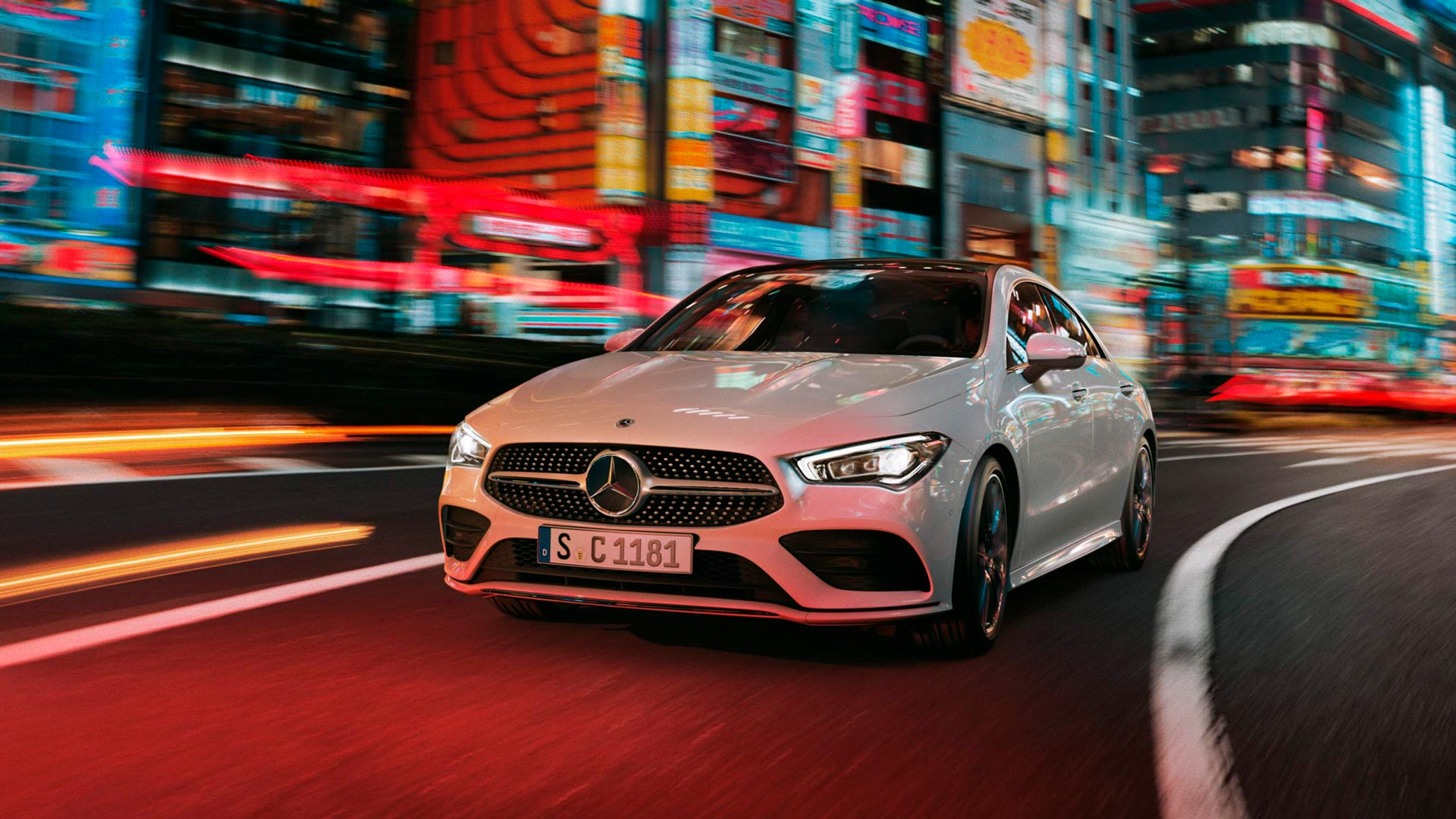 Автомобіль Mercedes-Benz CLA Coupe вид спереду
