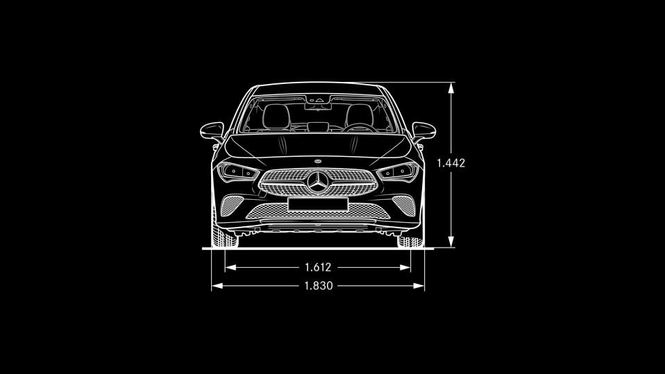 Новий автомобіль Mercedes–Benz CLA Shooting Brake Вид спереди