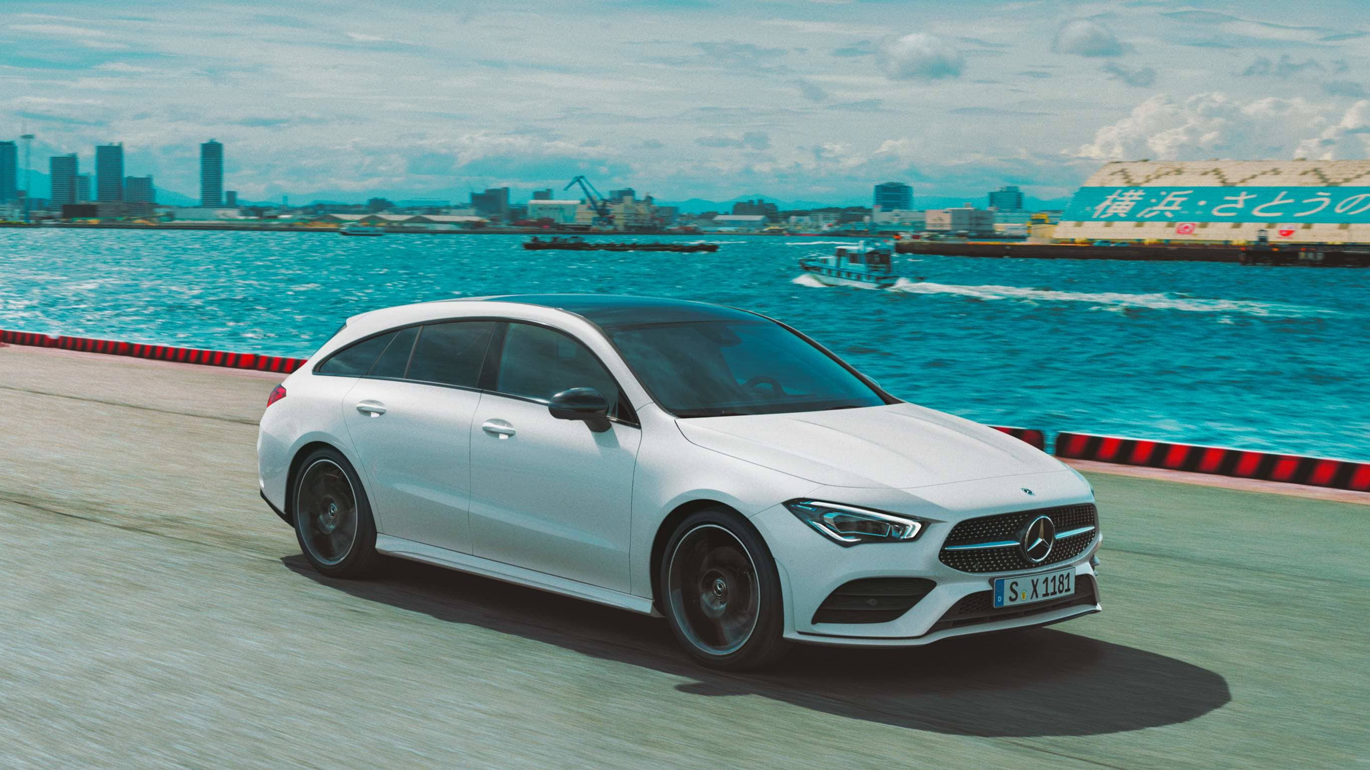 Новый автомобиль Mercedes-Benz CLA Shooting Brake решетка радиатора