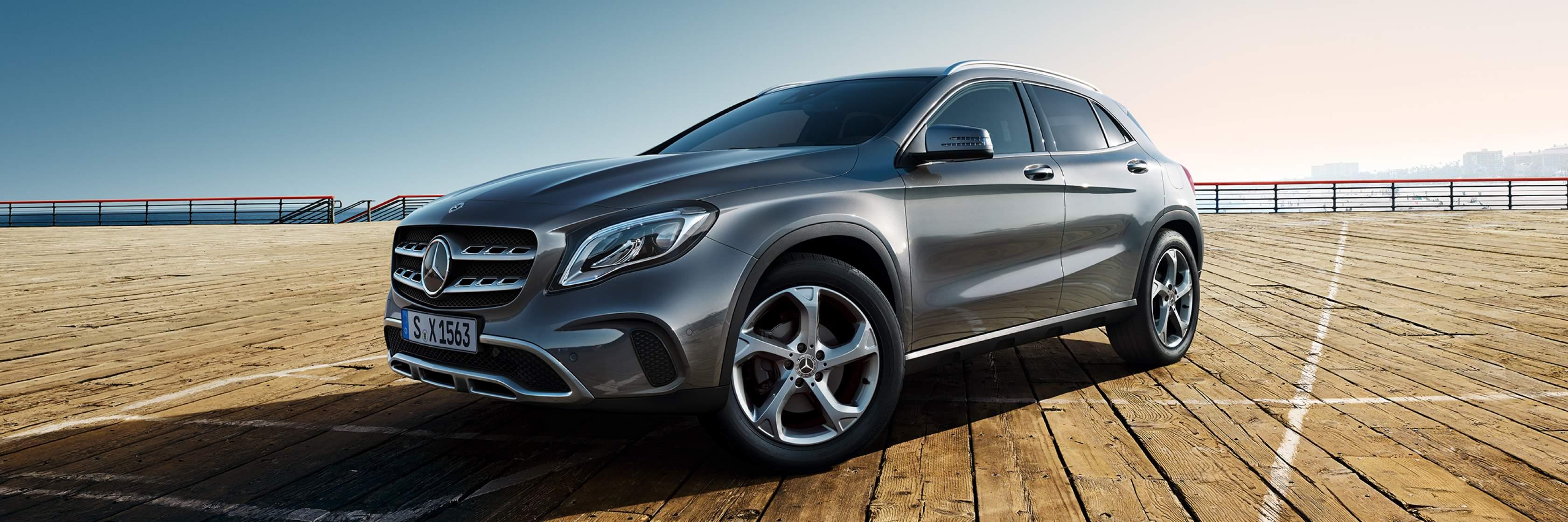 Интерьер и экстерьер Mercedes-Benz GLA