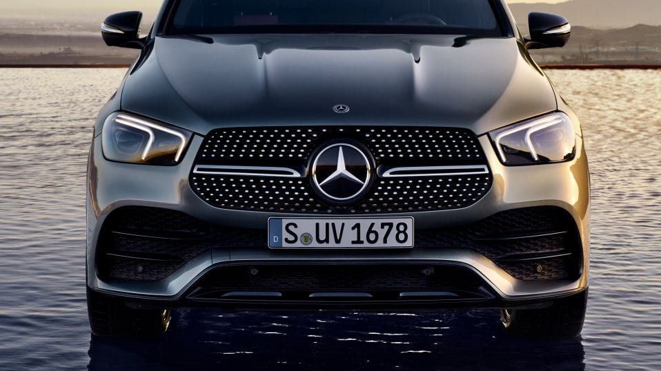 Новый автомобиль Mercedes-Benz GLE Coupe MULTIBEAM LED и спортивная решетка радиатора