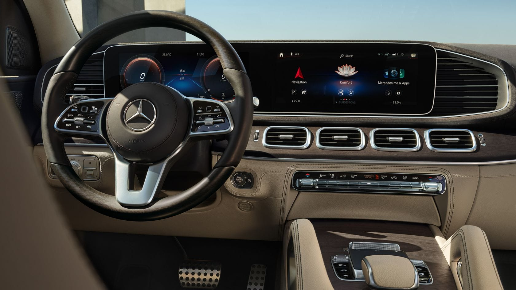 Автомобиль Mercedes Benz GLS cockpit