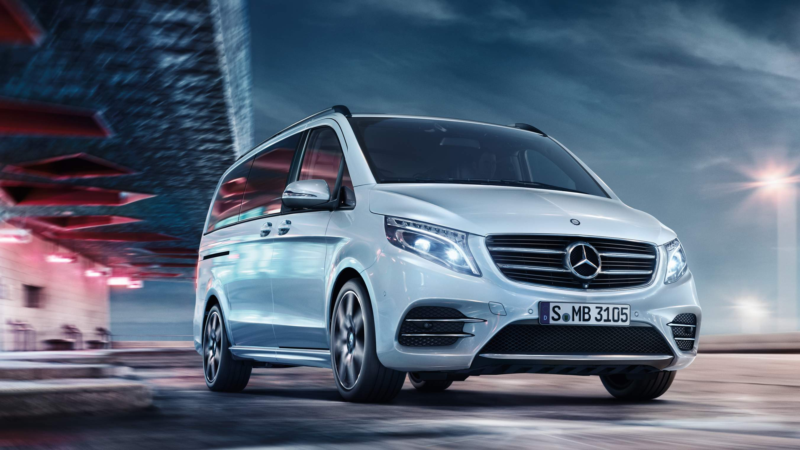 Mercedes-Benz Intelligent Drive в новом автомобиле Mercedes-Benz V-Class