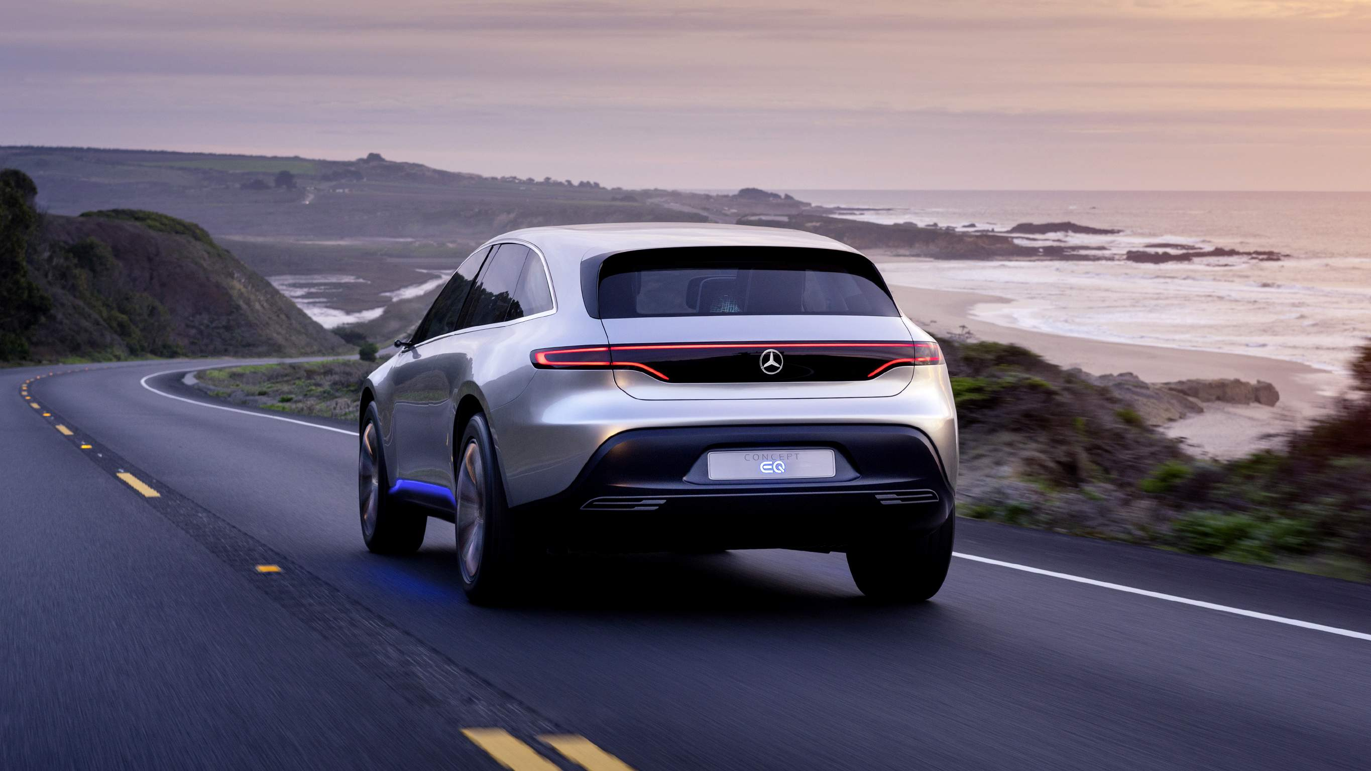Mercedes-Benz Concept EQ вид сзади
