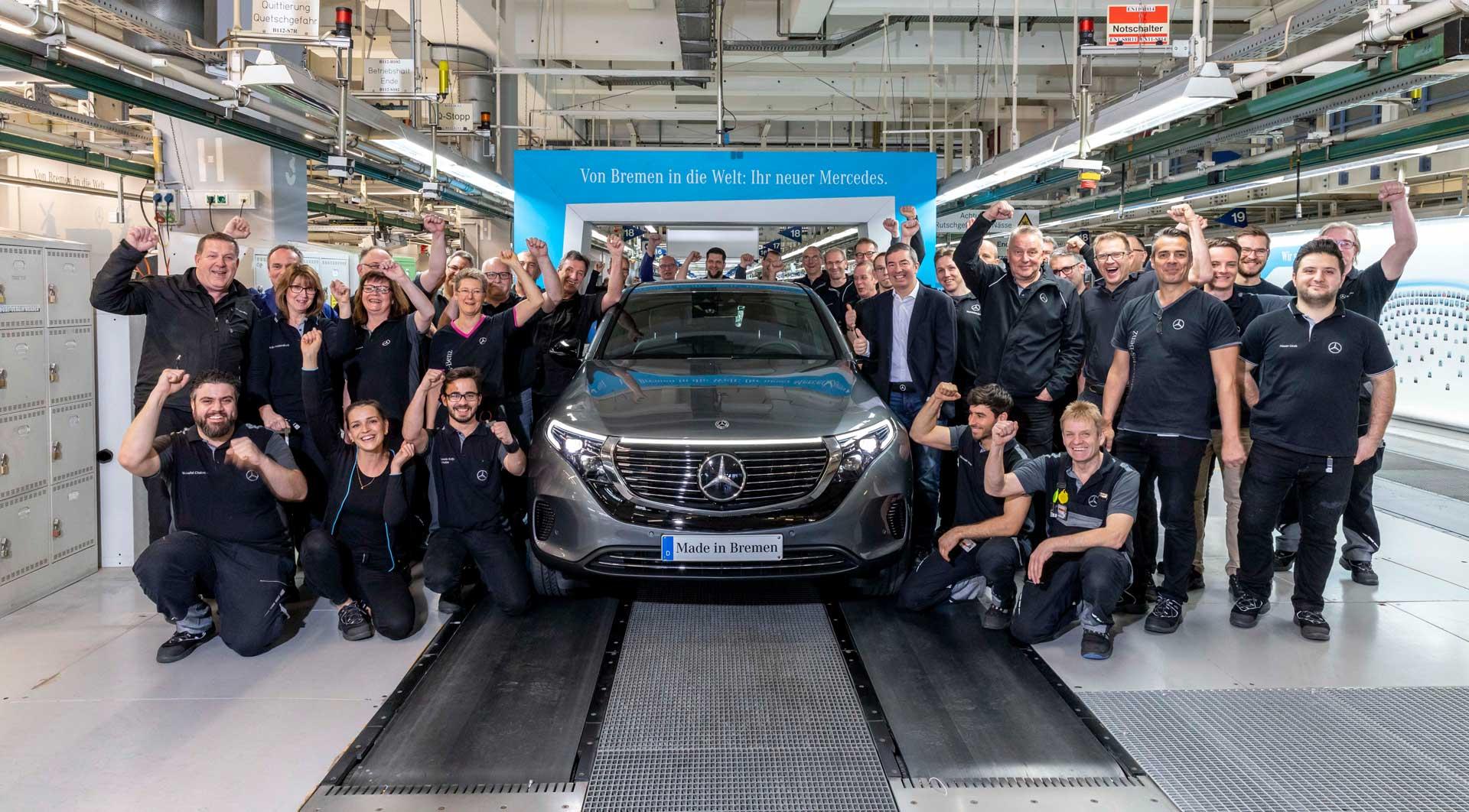 Електричний кросовер Mercedes-Benz EQC відправлений на серійне виробництво