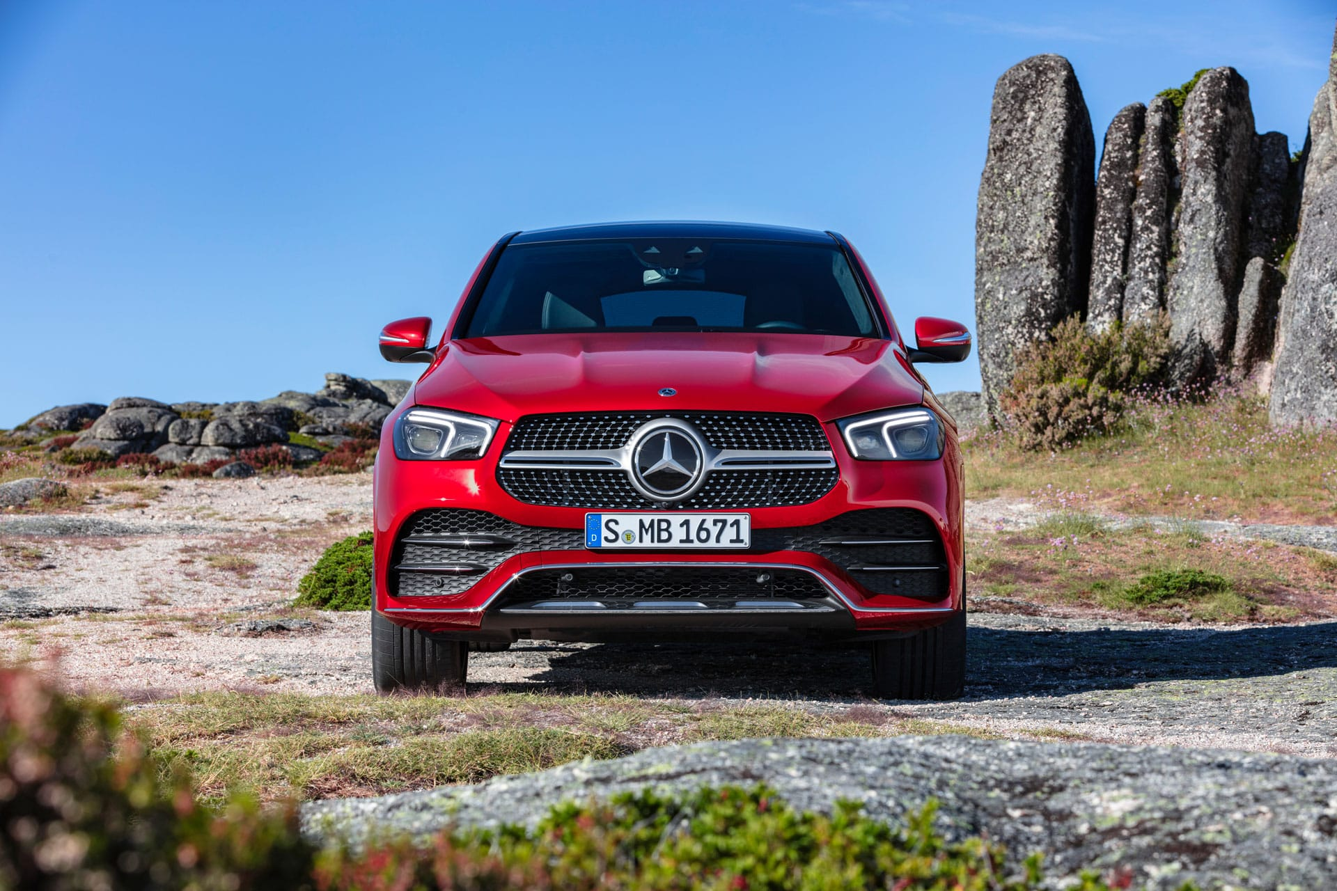 Автомобиль Mercedes-Benz GLE Coupe 2020 вид спереди