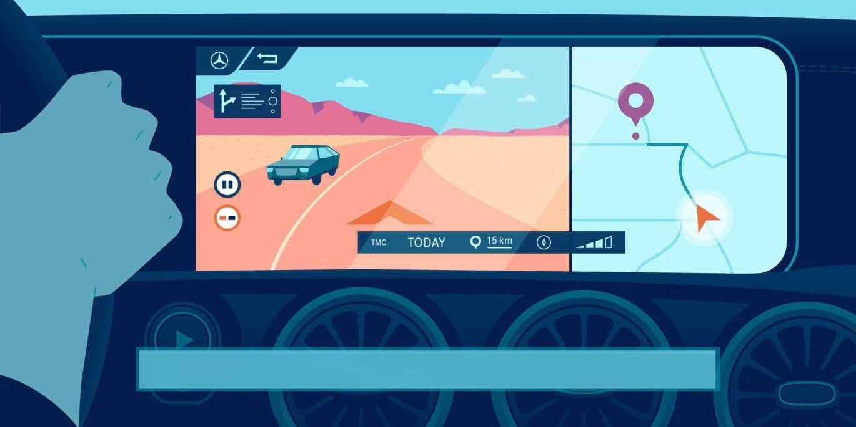 Від атласа до MBUX: історія навігації Mercedes–Benz
