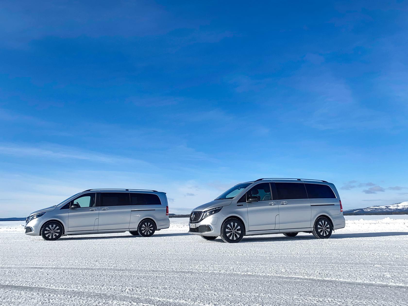 Mercedes-Benz EQV проходить зимові випробування за Полярним колом