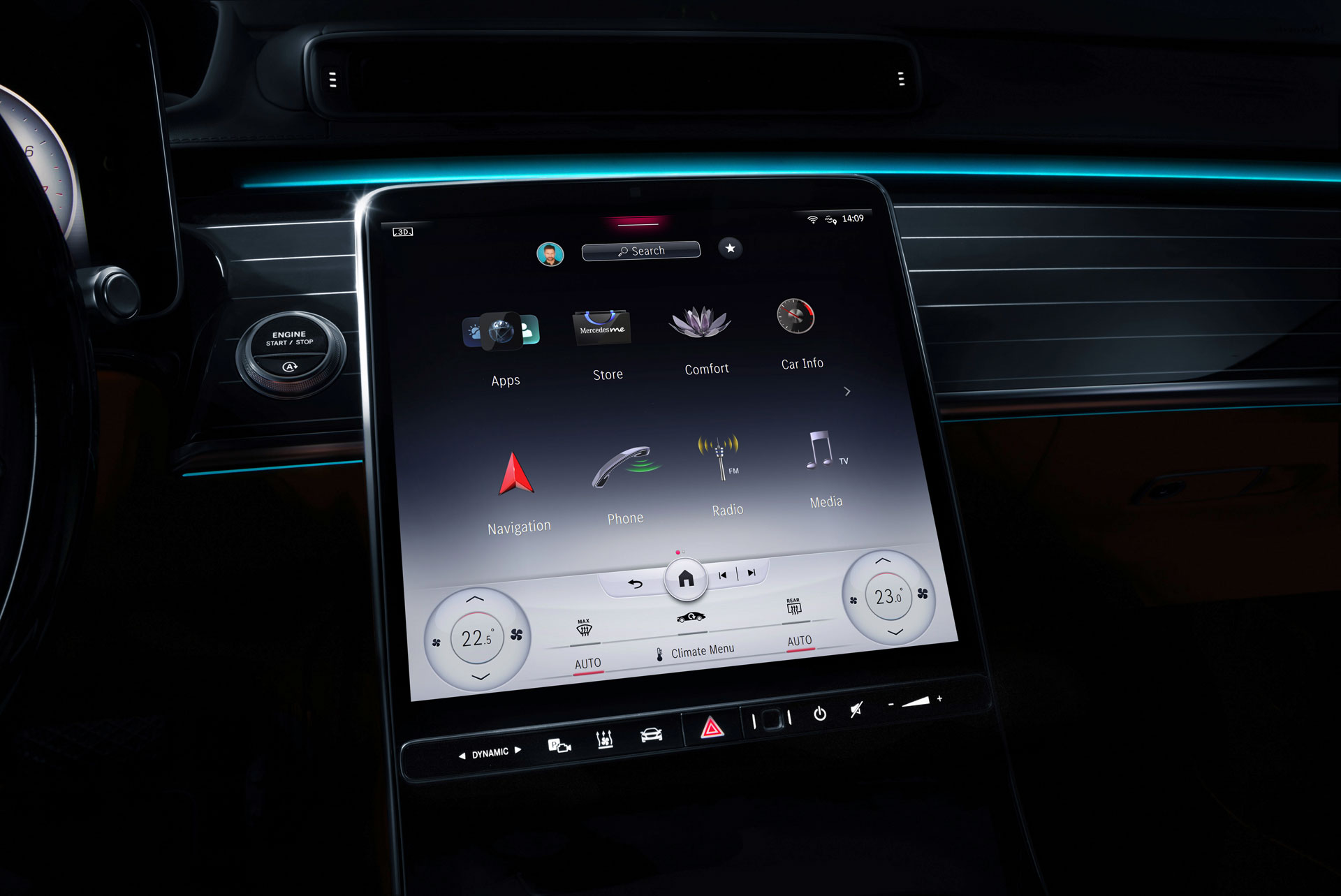 Новий Mercedes-Benz S-Class буде оснащений системою MBUX останнього покоління