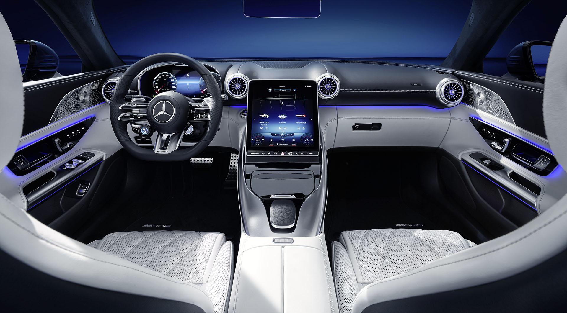 Ексклюзивний огляд інтер'єру нового Mercedes-AMG SL