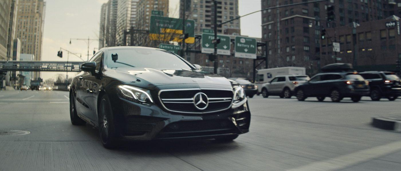 Новый Mercedes AMG E53 в рекламной кампании Mercedes AMG и IWC