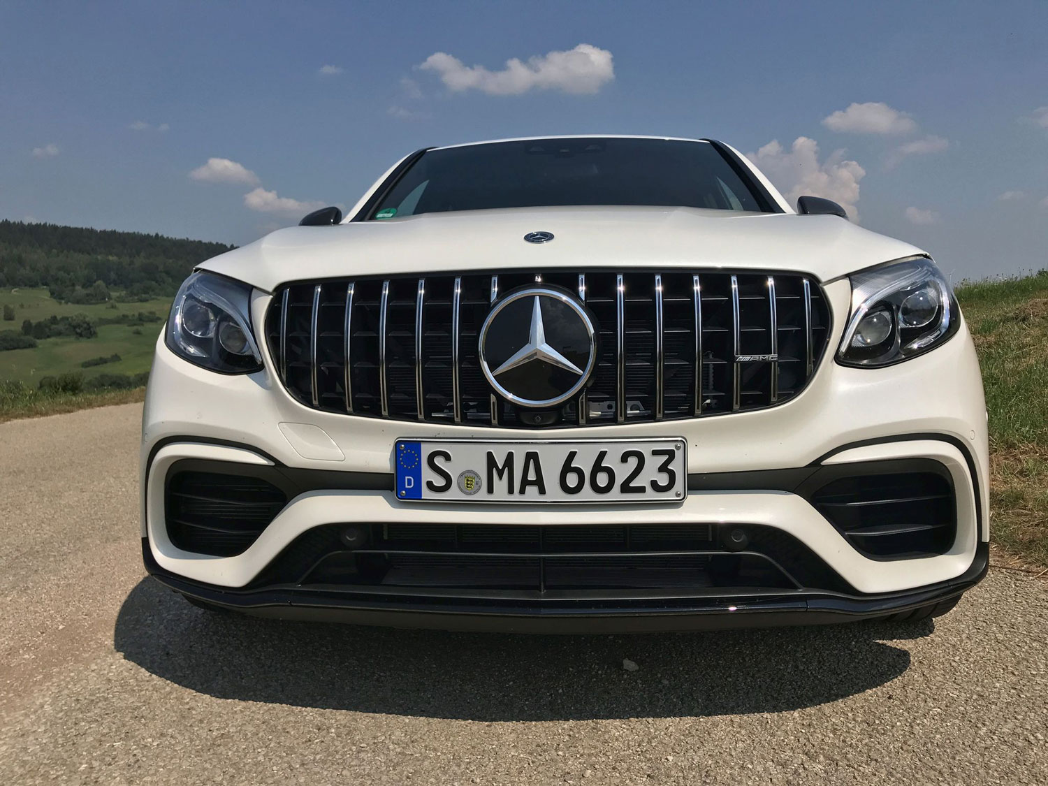 Новый Mercedes-AMG GLC 63 S 4MATIC решетка радиатора