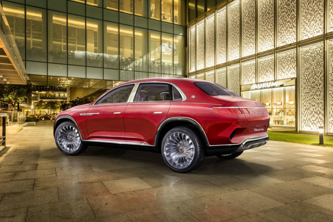 Новий автомобіль Vision Mercedes-Maybach Ultimate Luxury задні фари