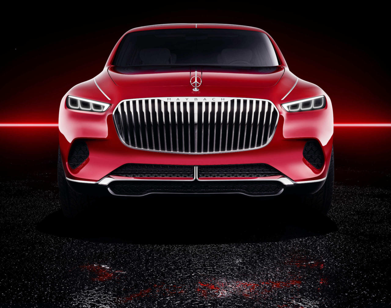 Новый автомобиль Vision Mercedes-Maybach Ultimate Luxury решетка радиатора