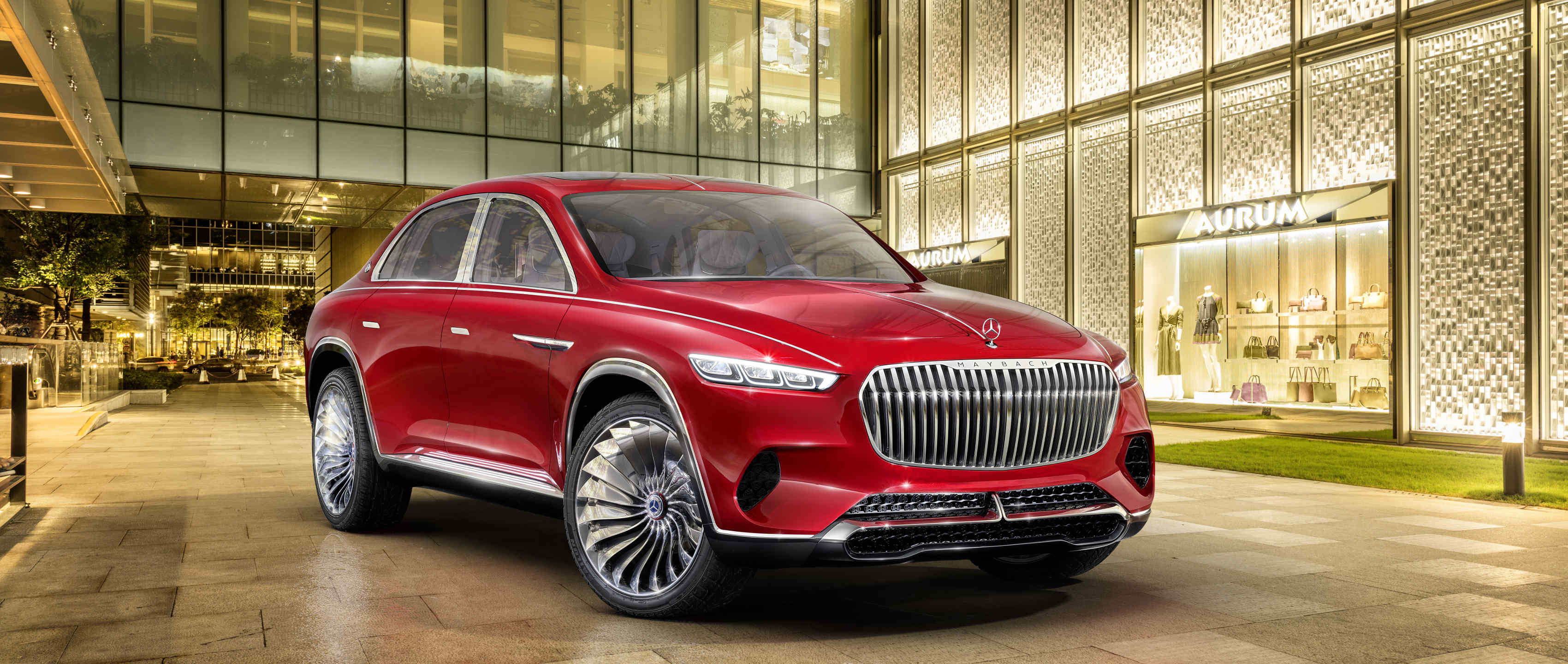 Новый автомобиль Vision Mercedes-Maybach Ultimate Luxury решетка радиатора и диски