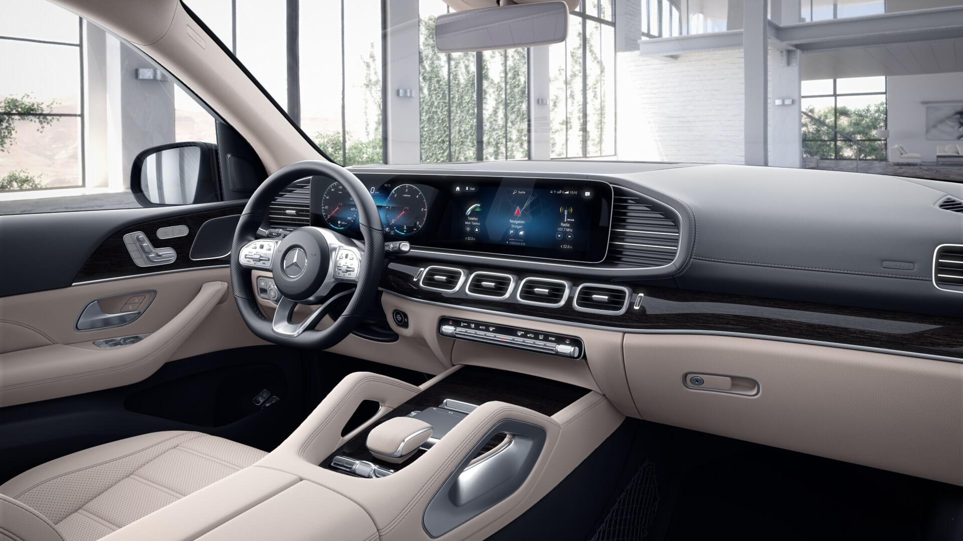 Новый автомобиль Mercedes-Benz GLS 350 d кокпит