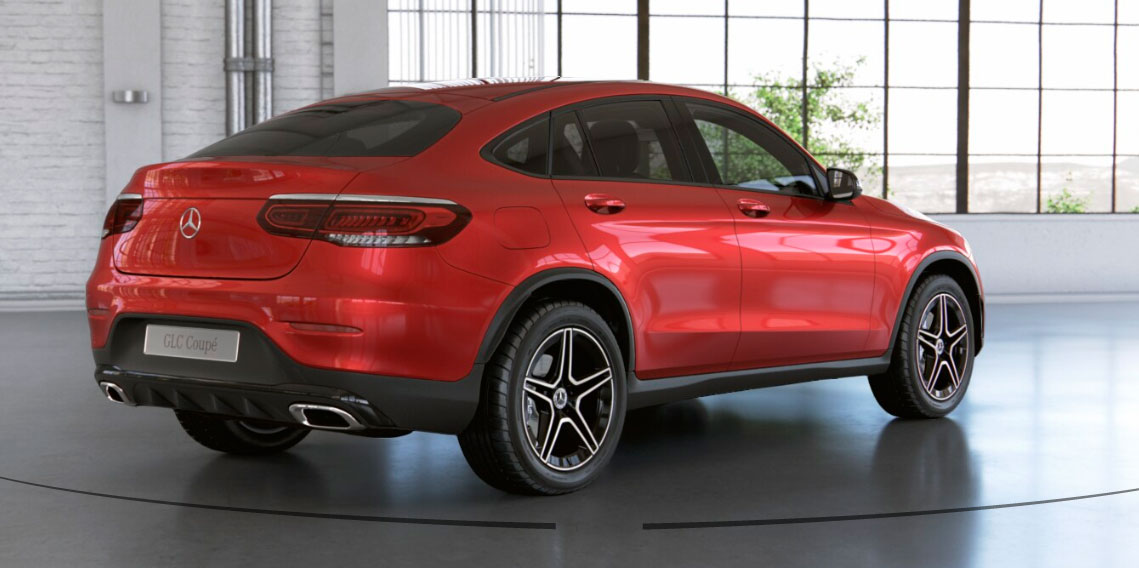 Mercedes-Benz GLC Coupe вигляд ззаду